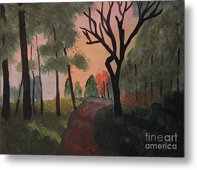 Gabby's Path Watercolor Metal Print