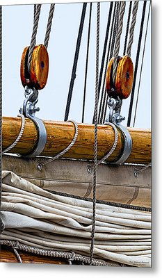 Gaff And Mainsail Metal Print by Marty Saccone
