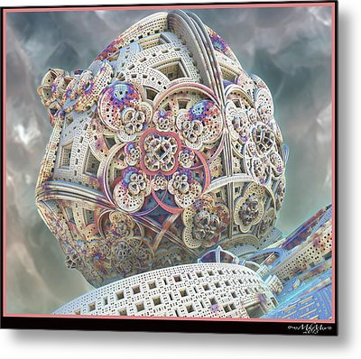 Metal Print featuring the digital art Gaia by Melissa Messick