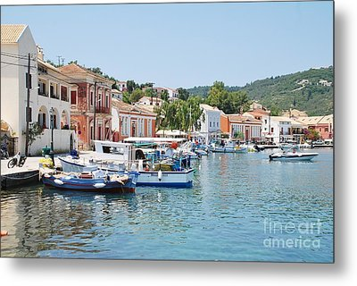 Gaios Harbour On Paxos Metal Print