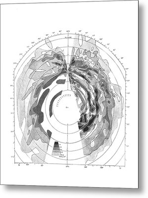 Galactic Hydrogen Distribution Metal Print by Royal Astronomical Society