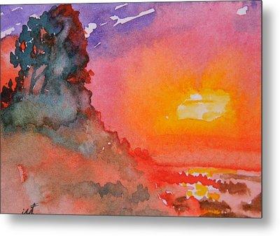 Galapagos Sunset Metal Print by Warren Thompson