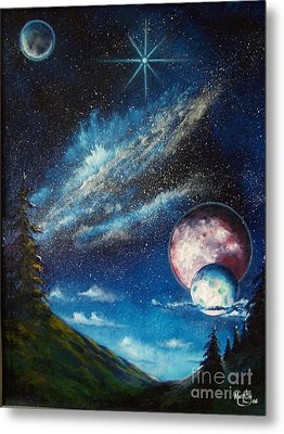 Galatic Horizon Metal Print by Murphy Elliott