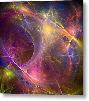 Galaxie Fractale -01 Metal Print by RochVanh