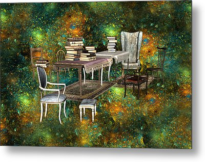Galaxy Booking Metal Print by Betsy Knapp