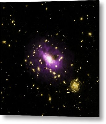 Galaxy Cluster Rx J1532 Metal Print by Nasa/cxc/stanford/j.hlavacek-larrondo Et Al/esa/stsci/m.postman And Clash Team