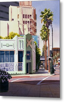 Gale Cafe On Wilshire Blvd Los Angeles Metal Print by Mary Helmreich