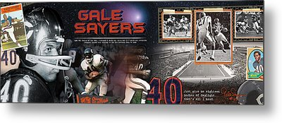 Gale Sayers Panoramic Metal Print by Retro Images Archive