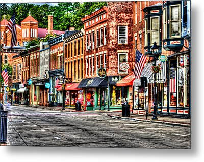 Galena Main Street Early Summer Morning Metal Print