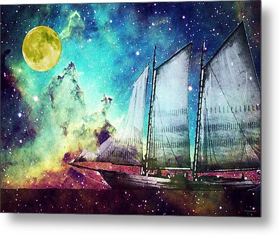 Galileo's Dream - Schooner Art By Sharon Cummings Metal Print by Sharon Cummings