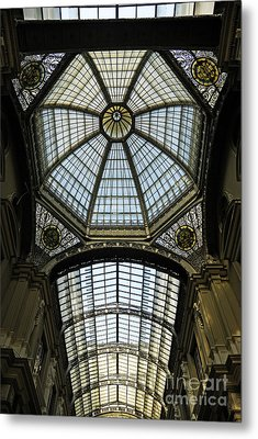 Gallery Glass Roof Of The City Hall Building Metal Print by Sami Sarkis