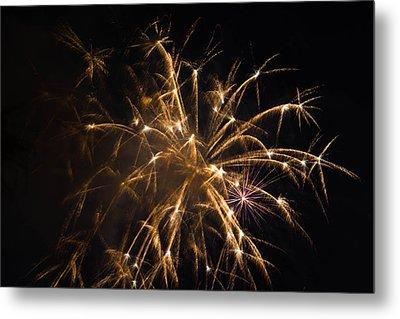Galveston Fireworks Metal Print by Jason Brow