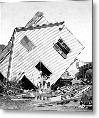 Galveston Hurricane Damage Metal Print by Library Of Congress