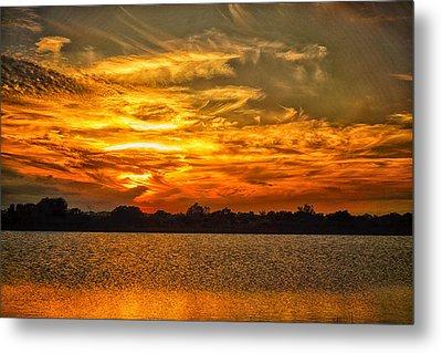 Galveston Island Sunset Dsc02805 Metal Print by Greg Kluempers