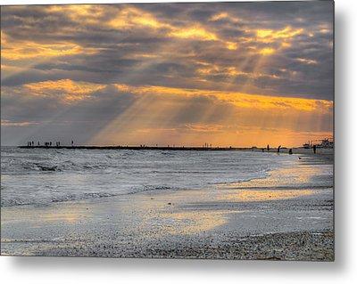 Galveston Rays Of Sunshine Metal Print by Ray Devlin