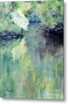 Metal Print featuring the painting Gamble Creek by Mary Lynne Powers