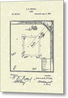 Game 1887 Patent Art Metal Print