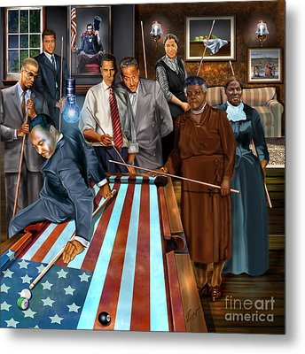 Game Changers And Table Runners P2 Metal Print by Reggie Duffie