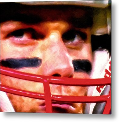 Game Face Metal Print by Michael Pickett