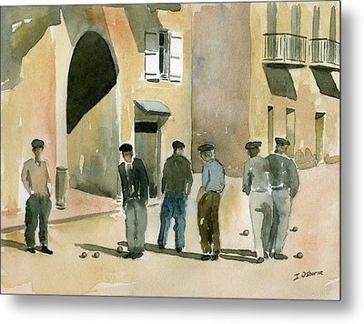Game Of Petanque Metal Print by Ian Osborne