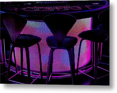Game Table Metal Print by Tammy Espino