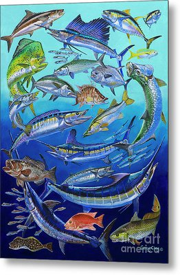 Gamefish Collage In0031 Metal Print by Carey Chen