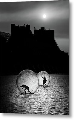 Games In A Bubble Metal Print by Juan Luis Duran