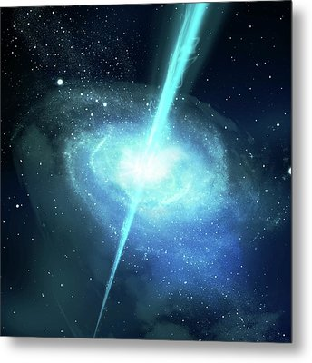 Gamma Ray Burst Metal Print by Harald Ritsch