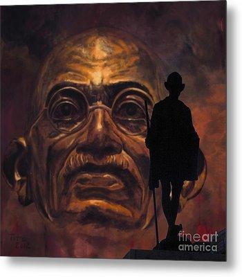 Gandhi - The Walk Metal Print by Richard Tito
