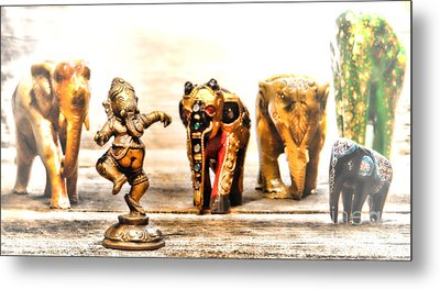 Ganesh Dream Metal Print by Olivier Le Queinec