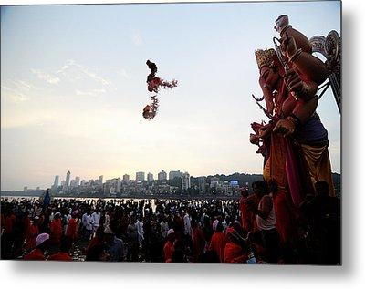Ganesha Blessings Metal Print by Money Sharma