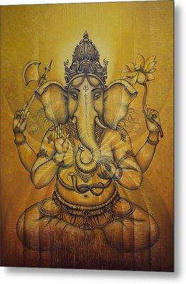Ganesha Darshan Metal Print