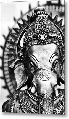 Ganesha Monochrome Metal Print by Tim Gainey