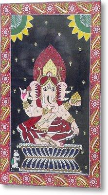 Ganesha The Hindu God Metal Print by Prasida Yerra