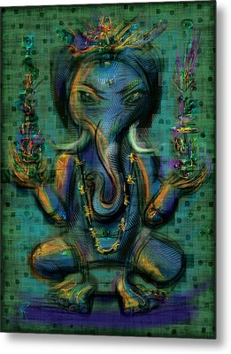 Ganesha Too Metal Print by Russell Pierce