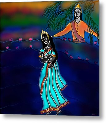 Ganga Devi And Santhanu Metal Print by Latha Gokuldas Panicker