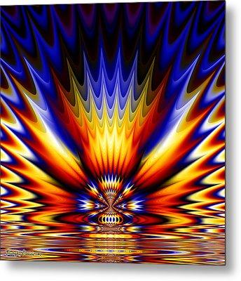 Ganges River Coloring.  2013  80/80 Cm.  Metal Print by Tautvydas Davainis