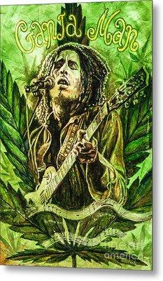Metal Print featuring the painting Ganja Man by Igor Postash