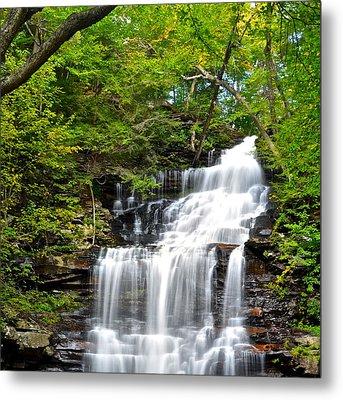 Ganoga Falls Ricketts Glen Metal Print by Frozen in Time Fine Art Photography
