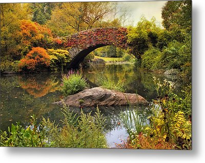 Metal Print featuring the photograph Gapstow Bridge Serenity by Jessica Jenney