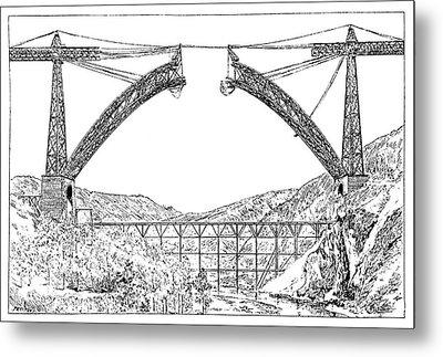 Garabit Viaduct Metal Print by Science Photo Library