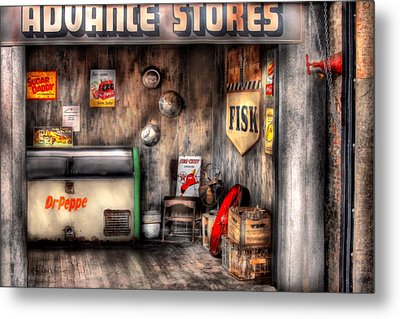 Garage - Advance Stores  Metal Print by Mike Savad