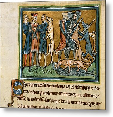 Garamantes Rescued By Dogs Metal Print by British Library