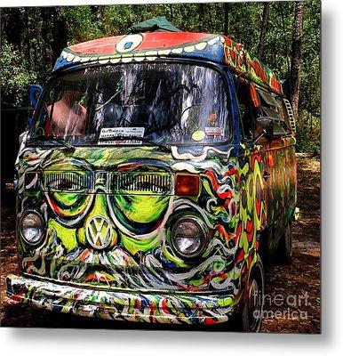Garcia Vw Bus Metal Print by Angela Murray