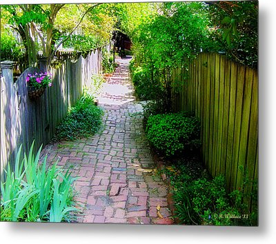 Garden Alley Metal Print by Brian Wallace