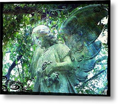 Garden Angel - Divine Messenger Metal Print by Absinthe Art By Michelle LeAnn Scott
