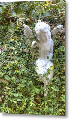 Garden Angel Metal Print