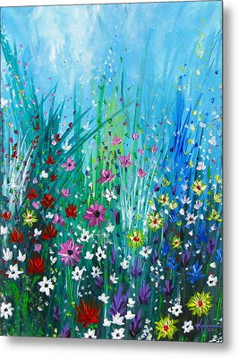 Garden At Early Morning Metal Print by Kume Bryant