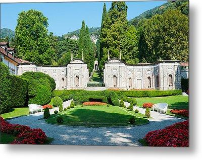 Garden At Villa Deste Hotel, Cernobbio Metal Print by Panoramic Images