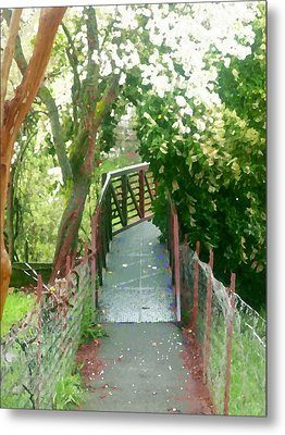 Garden Bridge Metal Print by Tamyra Crossley